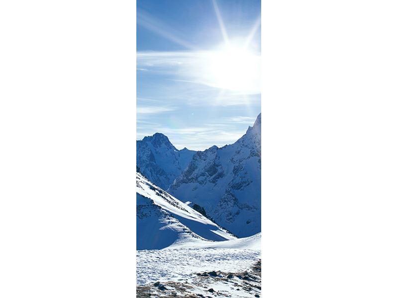 Türtapete Der Berg im Schnee