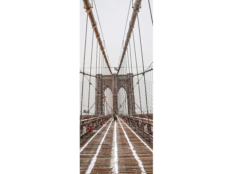 Türtapete Auf der Brooklyn Bridge