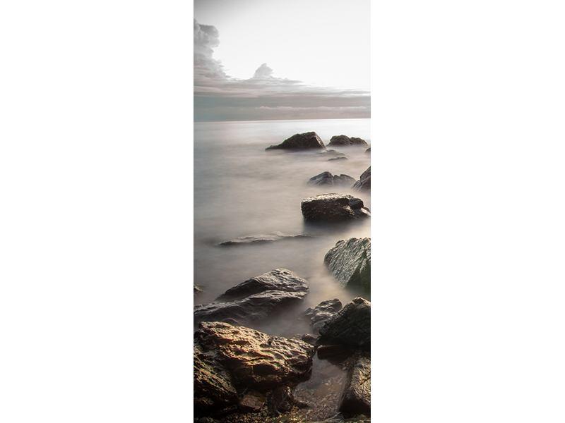 Türtapete Steine am Strand