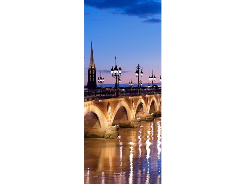Türtapete Pont De Pierre bei Sonnenuntergang