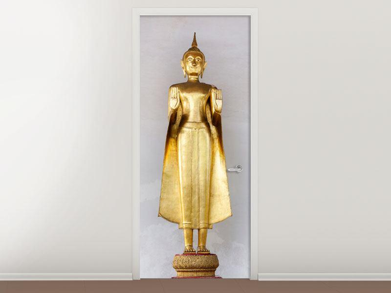 Türtapete Goldener Buddha
