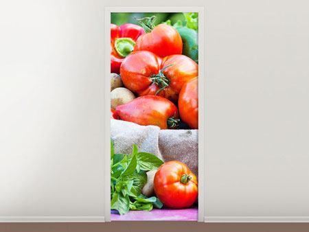 Türtapete Gemüsekorb