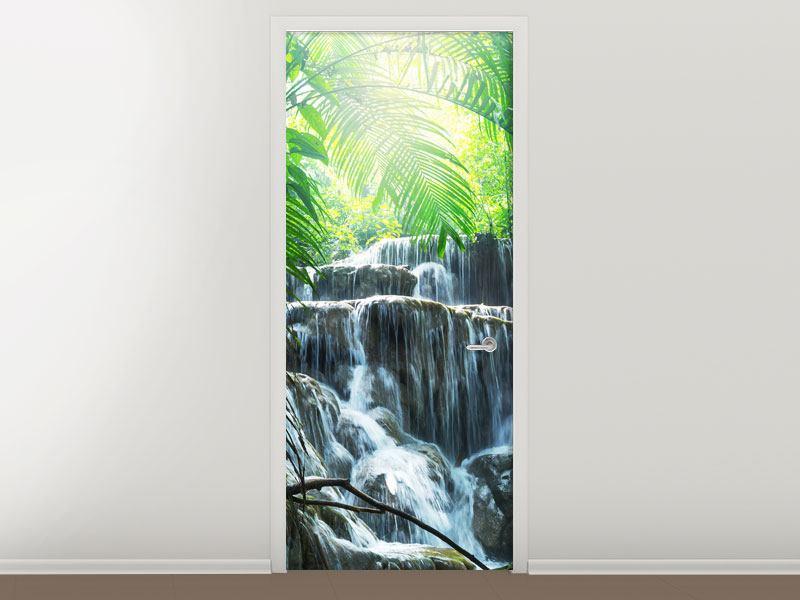 Türtapete Wasserfall Agua Azul