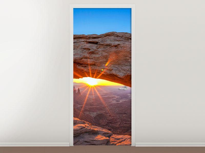 Türtapete Sonnenuntergang am Mesa Arch