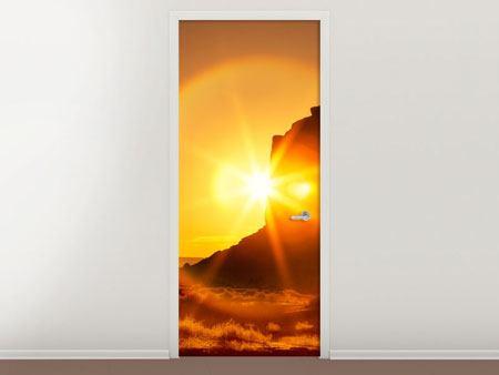 Türtapete Sonnenuntergang Monument Valley