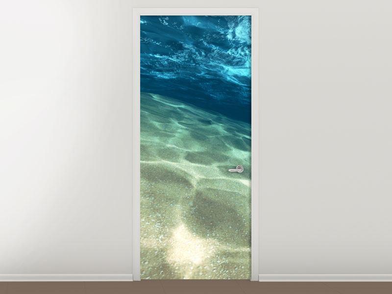 Türtapete Unter dem Wasser