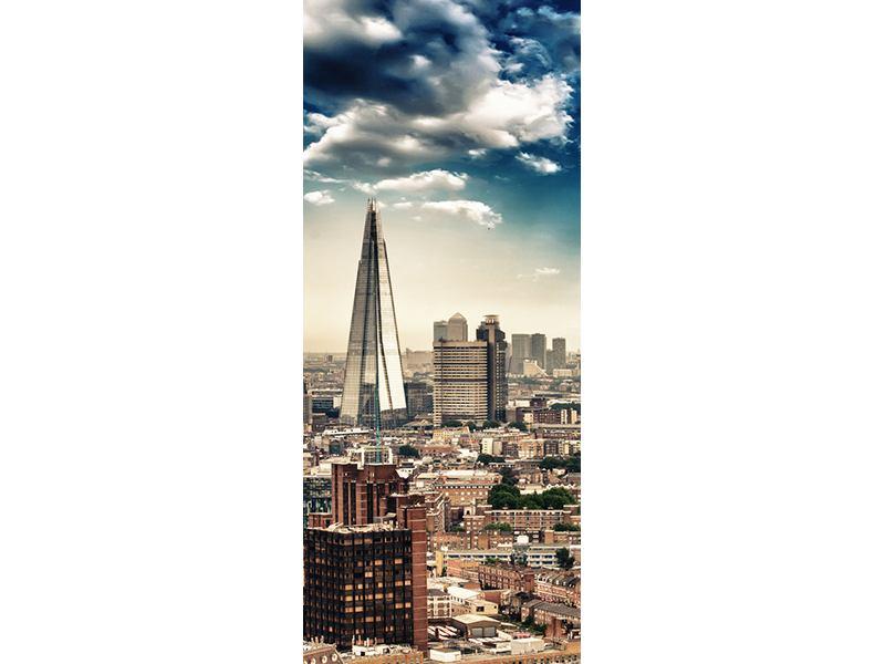 Türtapete Skyline Über den Dächern von London