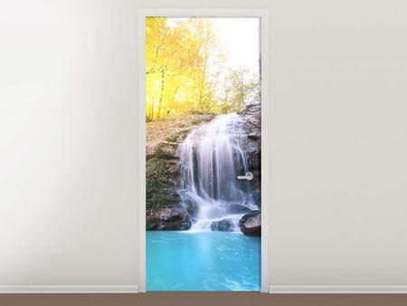 Türtapete Fliessender Wasserfall