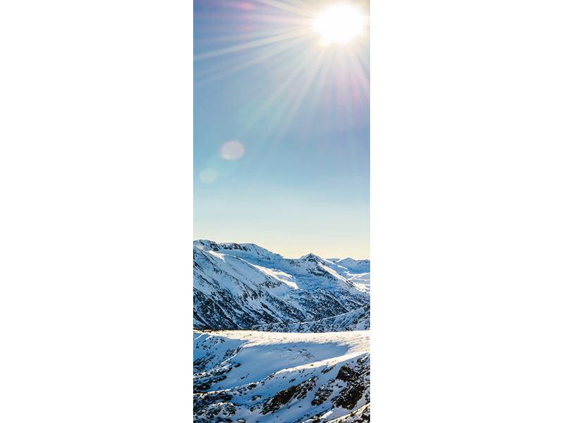Türtapete Berge im Schnee