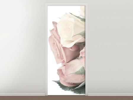 Türtapete Rosenromantik