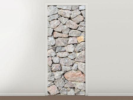 Türtapete Grunge-Stil Mauer