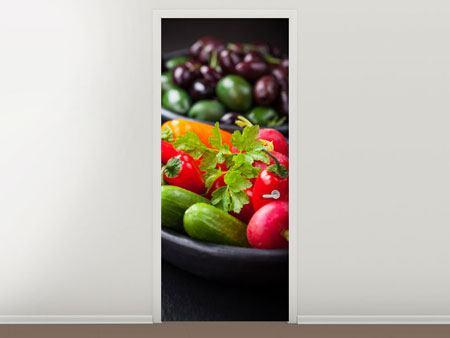 Türtapete Gemüseschale