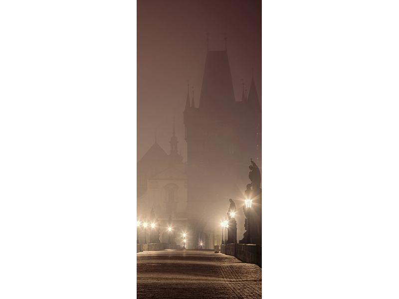 Türtapete Die Karlsbrücke bei Nacht