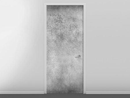 Türtapete Graue Wandschattierungen