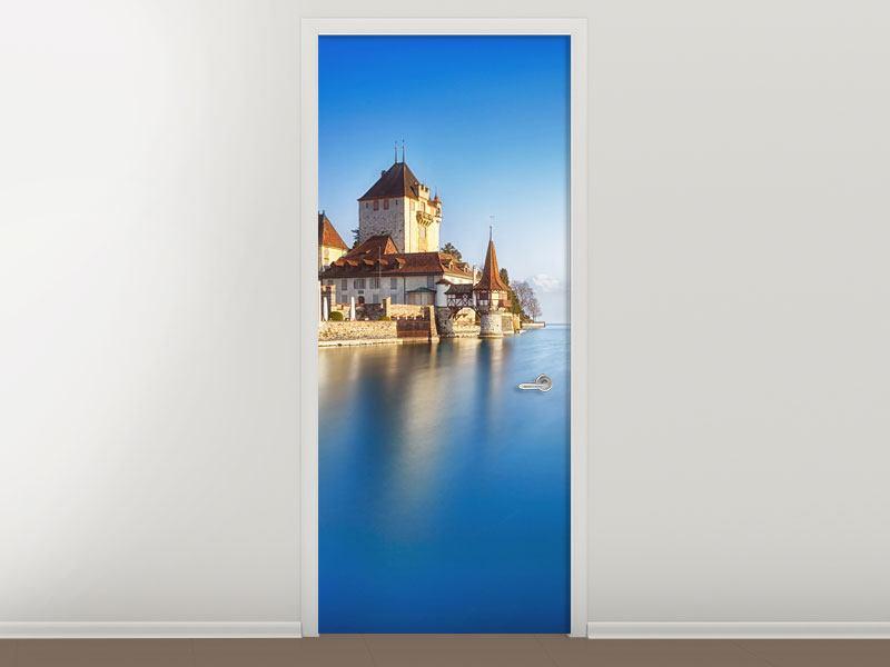 Türtapete Schloss Oberhofen am Thunersee
