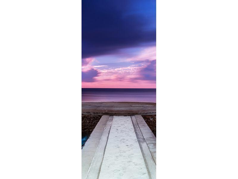 Türtapete Meditation am Meer