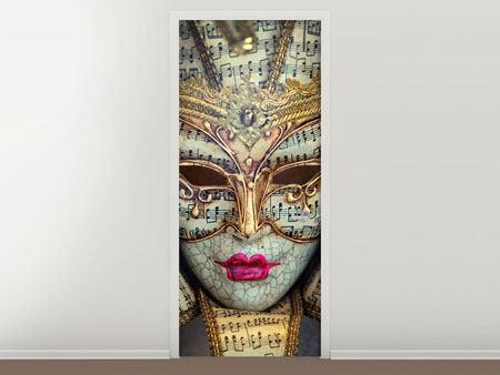 Türtapete Venezianische Maske