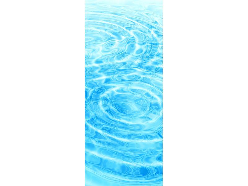 Türtapete Abstraktes Wasserbad