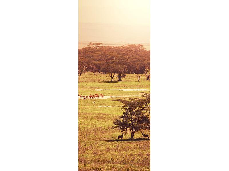 Türtapete Malerisches Afrika