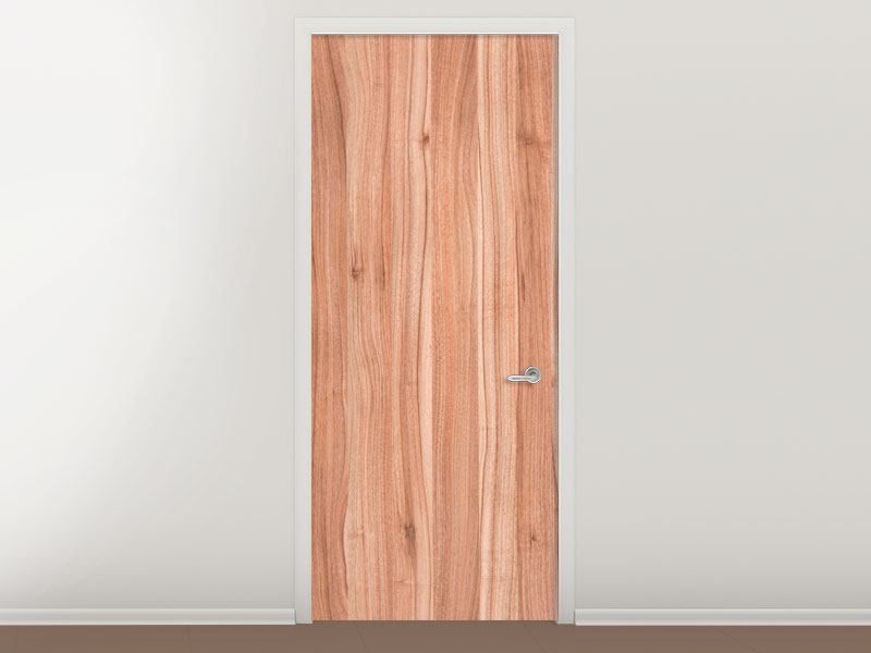 Türtapete Holzdesign
