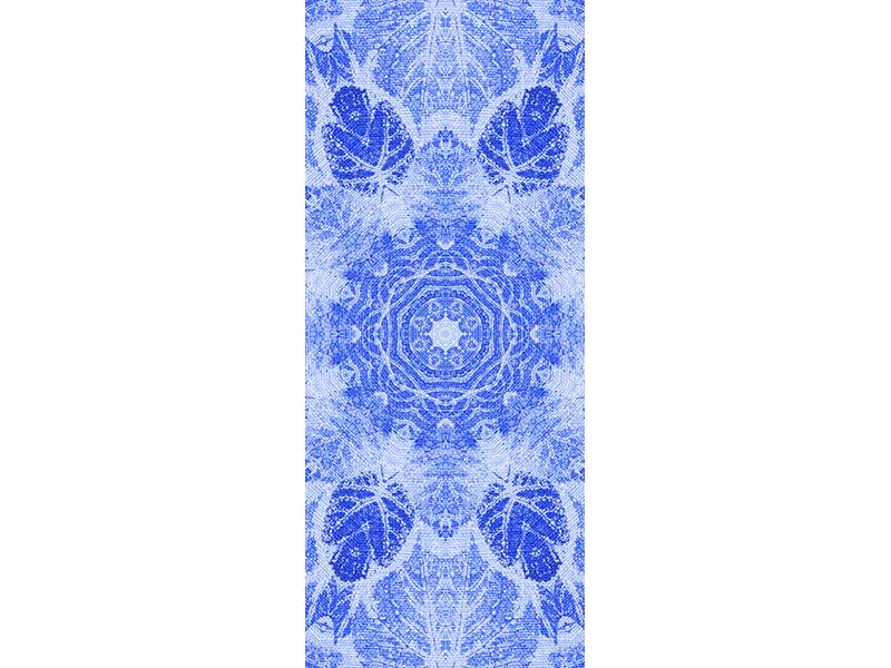 Türtapete Blaues Ornament