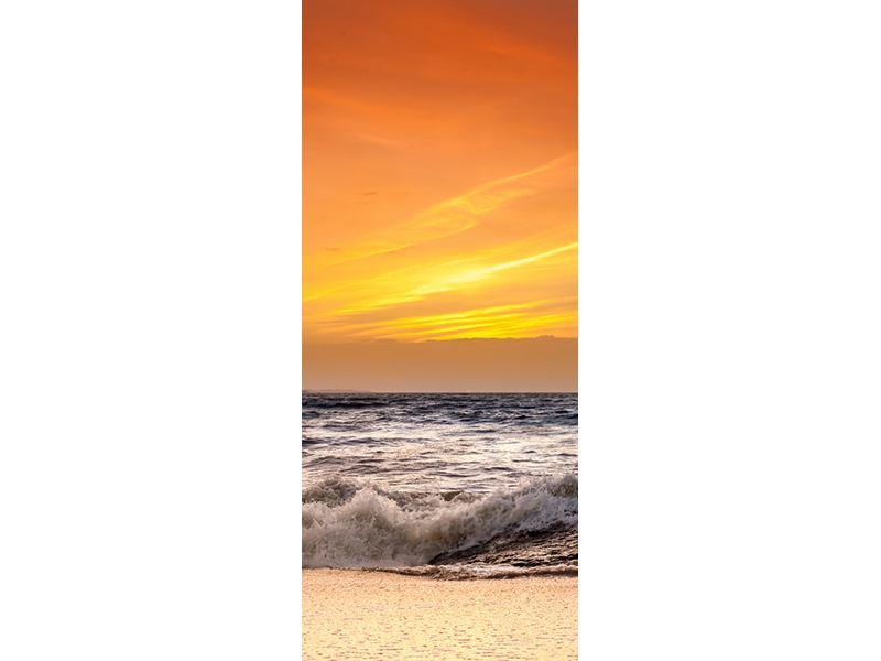 Türtapete See mit Sonnenuntergang