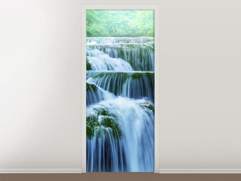 Türtapete Gigantischer Wasserfall