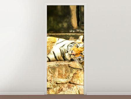 Türtapete Der Sibirische Tiger
