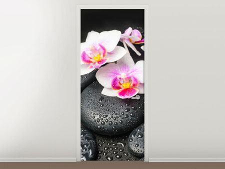 Türtapete Feng-Shui-Orchidee Zen