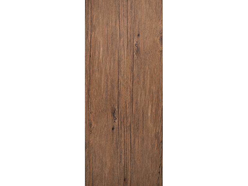 Türtapete Teak-Holz