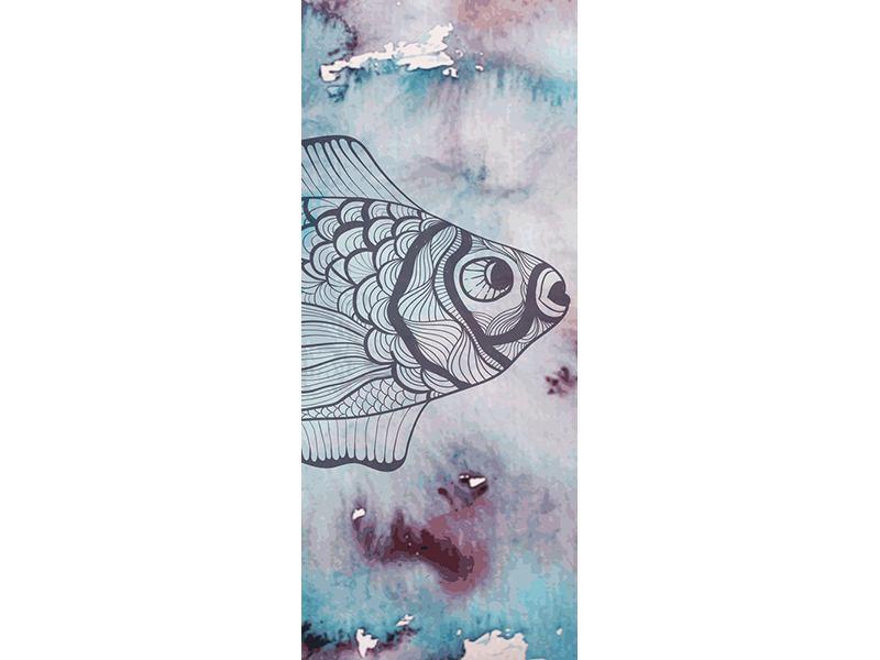 Türtapete Fisch-Aquarell