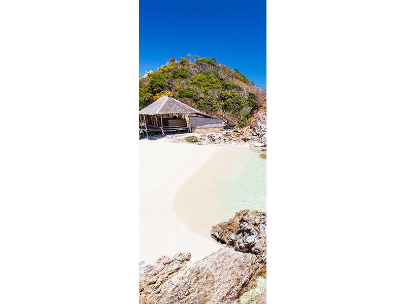 Türtapete Das Haus am Strand