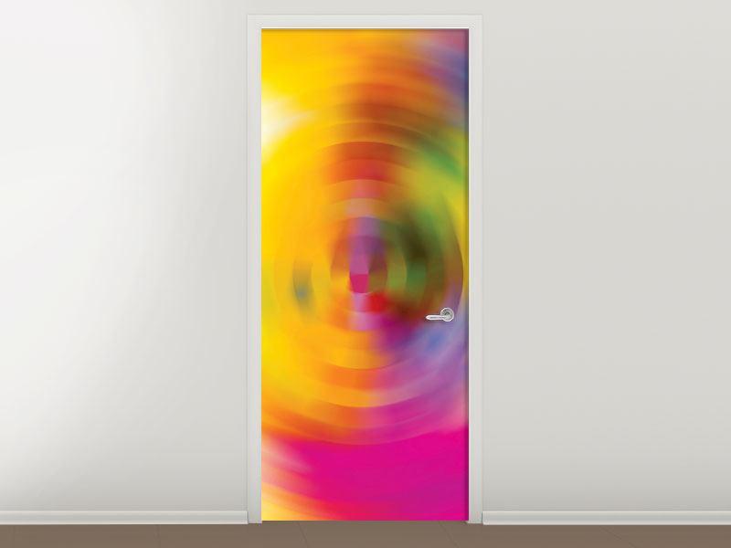 Türtapete Abstrakte Farbkreise