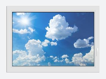 Window Print Sky-Blue