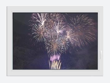 Window Print Fireworks