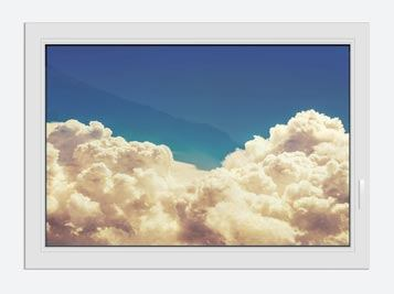 Window Print Sky Clouds