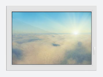Window Print Photo Wallaper Dawn Above The Clouds
