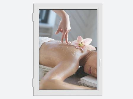 Window Print Spa Massage