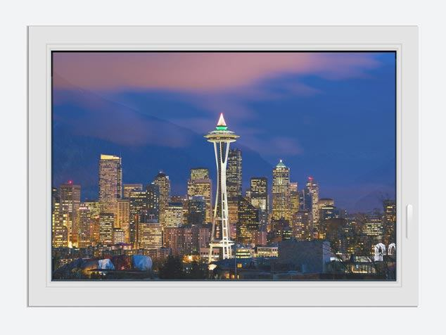Fensterbild Skyline Seattle