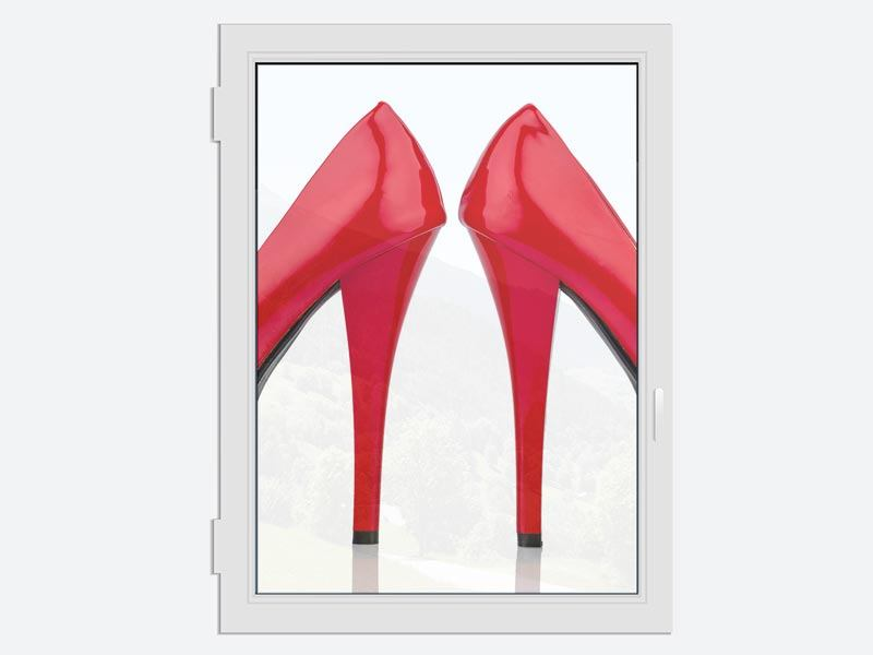 Fensterbild Close Up High Heels
