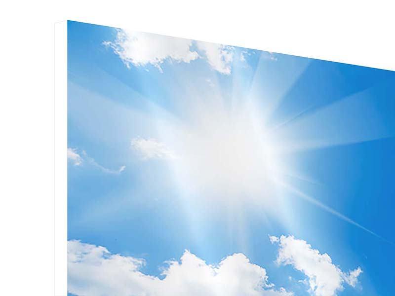 Hartschaumbild Panorama Himmelblau