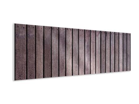 Hartschaumbild Panorama Holzwand