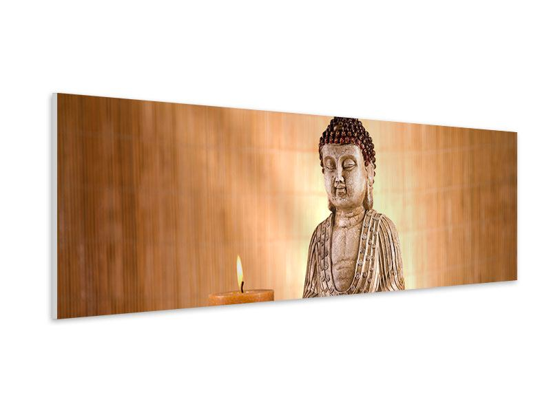 Hartschaumbild Panorama Buddha in der Meditation
