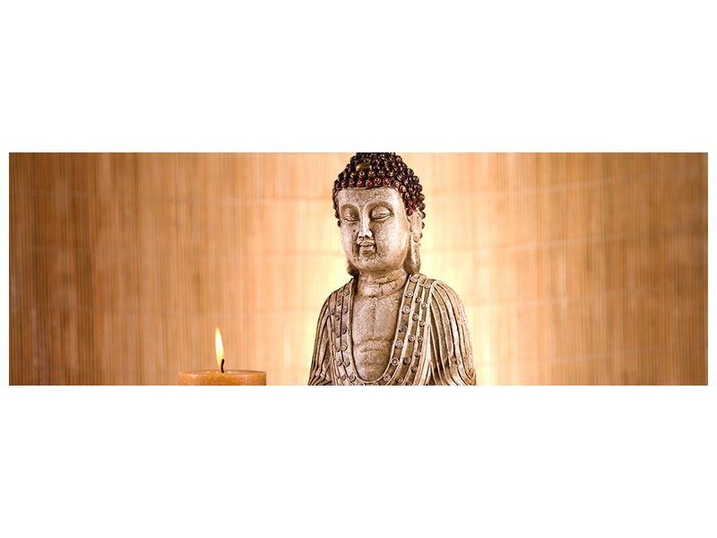 Hartschaumbild Panorama Buddha in der Meditation