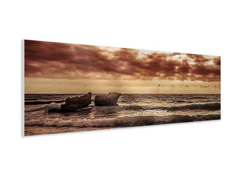 Hartschaumbild Panorama Meeresrauschen