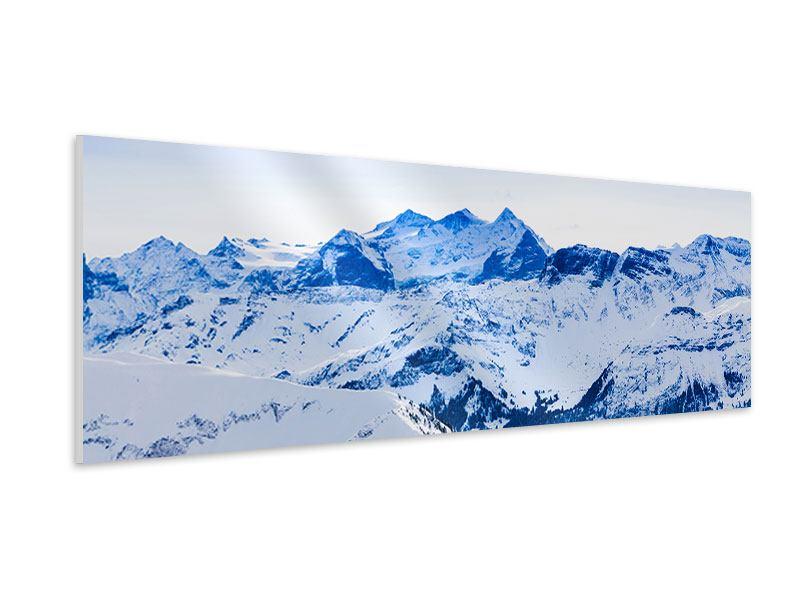 Hartschaumbild Panorama Die Schweizer Alpen