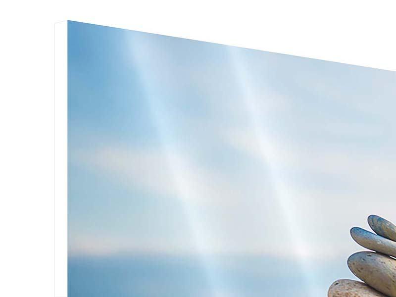 Hartschaumbild Panorama Drei Steinstapel