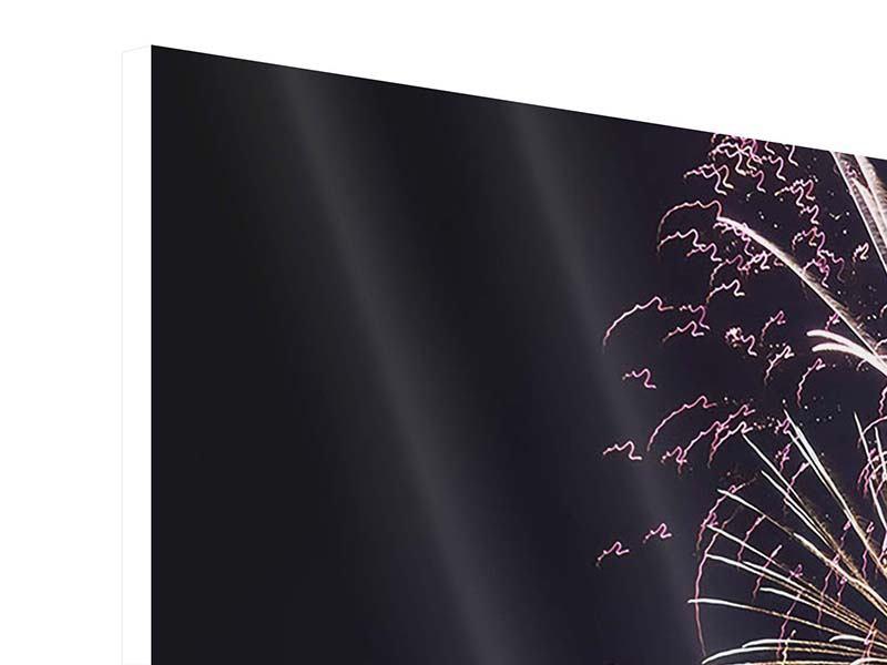 Hartschaumbild Panorama Feuerwerk
