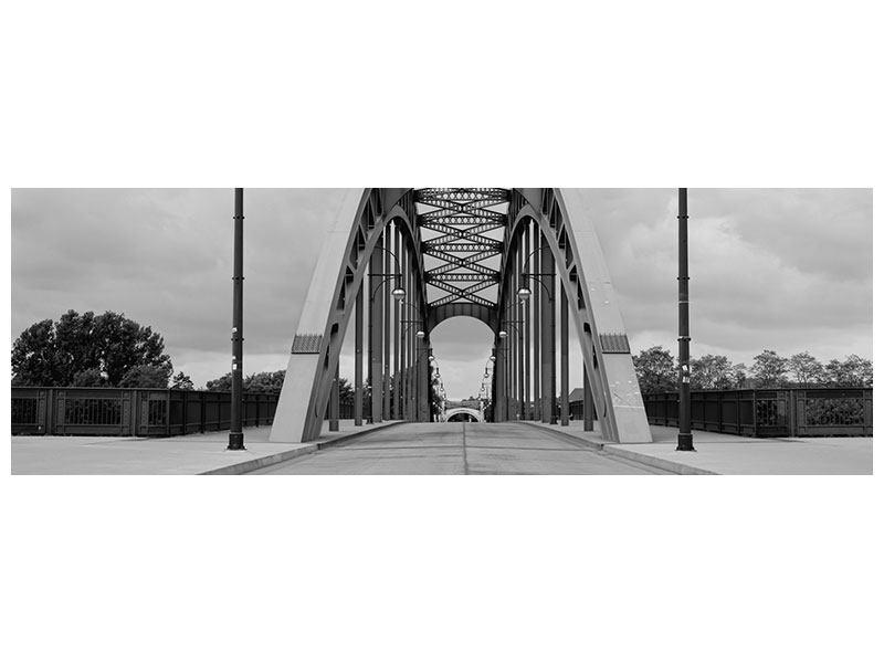 Hartschaumbild Panorama Poetische Brücke