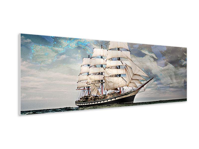 Hartschaumbild Panorama Segelschiff